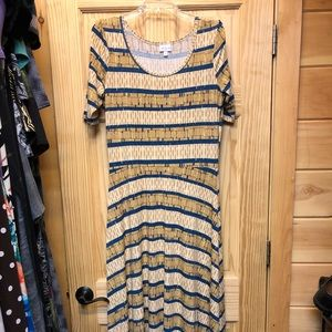 Lularoe Ana maxi dress, excellent preowned